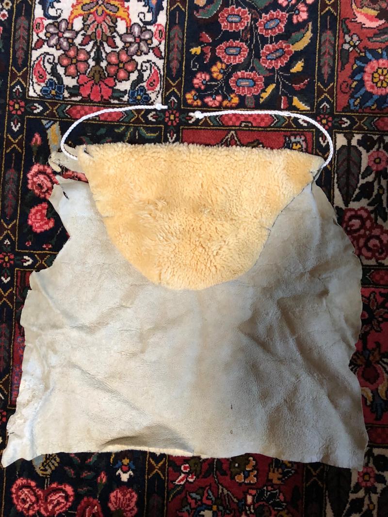 Sheepskin apron